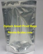 500 Bulk Smell Proof Bag Clear Front and Foil Back Ziplock 250 Gram